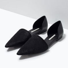 LEATHER D'ORSAY SHOES-Shoes-Woman-SHOES & BAGS | ZARA United States