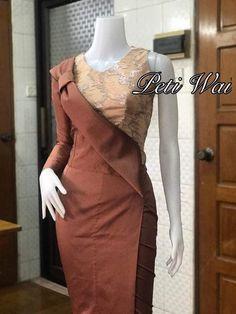 Myanmar Traditional Dress, Thai Traditional Dress, Traditional Fashion, Traditional Outfits, African Fashion Dresses, African Dress, Fashion Outfits, Trendy Dresses, Elegant Dresses
