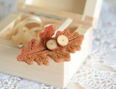 Organic natural wood stud earrings sterling by MyPieceOfWood
