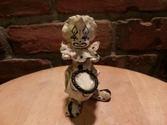 Paper Mache Clown, Collectible Folk Art, Mexican Paper Mache Clown, 1960's prop by Morethebuckles on Etsy