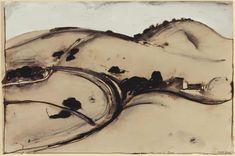 Landscape Sketch, Abstract Landscape, Landscape Paintings, Landscapes, Australian Painting, Australian Artists, Avant Garde Artists, Italian Paintings, Watercolor Sunflower