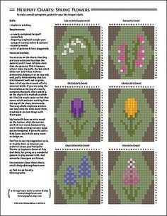 Hexipuff Spring Flowers Charts