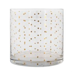 Drinking Glass with Gold Stars by Bloomingville
