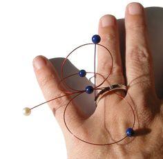 Ring. Gems (lapislazuli, pearl) By Aila Jubany.