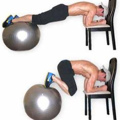 Using a bench or chair and a medicine ball, try doing 3 sets of 20  OR FOR A GREATER CHALLENGE: do each set until fail, which means not counting. This will challenge your core far more & get your abs burning