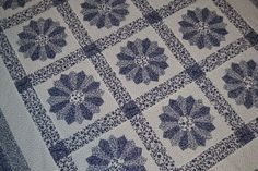 Blue and White Dresden Plate Quilt by shirleygale on Etsy, $80.00