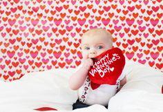 Valentine's day baby photo shoot