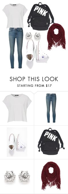 """""""School or casual outfit"""" by hankate5 ❤ liked on Polyvore featuring Frame, Converse, Victoria's Secret and Charlotte Russe"""