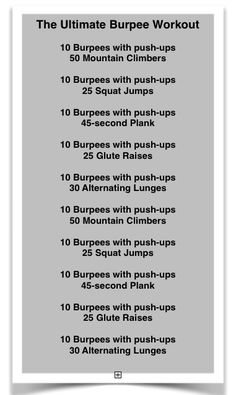 Ultimate Burpee Workout