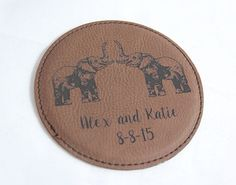A variety of leather colors are available. Leather Coasters, Laser Engraving, Colors, Unique, Gifts, Products, Presents, Colour, Favors