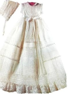 I adore this gown the material is gorgeous Baby Christening Gowns, Baptism Dress, Baptism Outfit, Christening Outfit, Vintage Baby Clothes, Vintage Outfits, Old Wedding Dresses, Blessing Dress, Girls Dresses