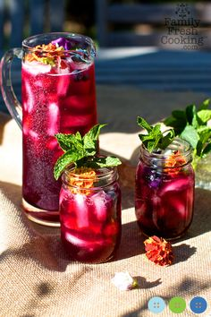Blueberry Mint Agua Fresca recipe | FamilyFreshCooking.com | © MarlaMeridith.com