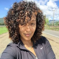 Tamera Mowry-Housley with her curls out