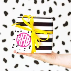 All of this wrapping paper is giving us new excuses to pull out our monogram mini cards! These little guys are perfect for gift tags and small gift enclosure cards.