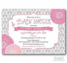 Shabby Chic Floral Bird Garden Invitation  Baby by TrinityStStudio, $17.00