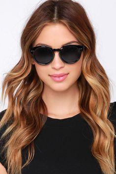 Milano Black Sunglasses at Lulus.com!