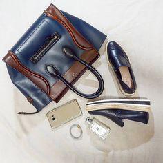 CELINE Mini Luggage Tricolor bag | SAMSUNG Galaxy Note 5 | ZARA oxford platforms | CHARRIOL bracelet | instagram: @quennandher | https://instagram.com/quennandher | Street Style. Look of the day....