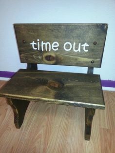 Hey, I found this really awesome Etsy listing at https://www.etsy.com/listing/172037464/time-out-chair-time-out-pouting-stool