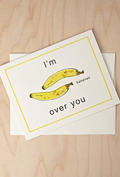 Bananas Over You Card | Forever 21 | #f21branded
