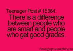 Teenager Posts yeah I get good grades but nick, nick is smart!!!!!