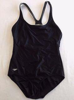 316d355d50 Size 12 Speedo Swimsuit Racer Back Black White Trim One Piece Swim Bathing  Suit