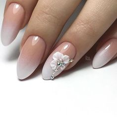 Wedding nails - TOP 28 cute inspirations on nails for . Informations About Hochzeitsnägel - TOP 28 Oval Nails, Pink Nails, My Nails, Nail Art Designs, Acrylic Nail Designs, Bride Nails, Wedding Nails, Cute Nails, Pretty Nails