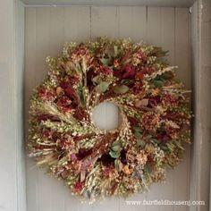 Beautiful Dried Flower Wreath