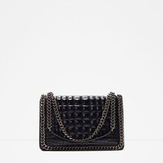 ZARA - WOMAN - CROC AND CHAIN CITY BAG