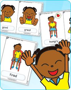"""Hello!"" from Super Simple Songs 2 is a great song for practicing emotions. Download free flashcards."