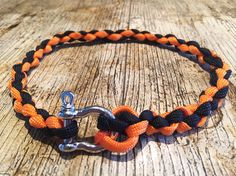 """Greyhound paracord tag collar, necklace style dog collar, orange and black 1/2"""" made to measure. Whippet house collar, rope collar"""