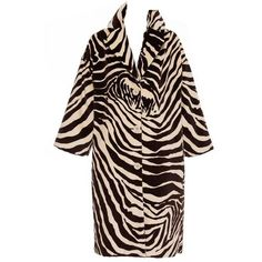 Preowned Dolce & Gabbana Cotton Velvet Zebra Print Coat ($800) ❤ liked on Polyvore featuring outerwear, coats, black, zebra print coat, dolce gabbana coat, leather-sleeve coats, pattern coat and lapel coat