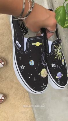 Behind The Scenes By xodestdesign Vans Shoes Fashion, Vans Shoes Women, Custom Vans Shoes, Custom Painted Shoes, Painted Canvas Shoes, Nike Air Shoes, Hand Painted Shoes, Custom Sneakers, Shoes Sneakers