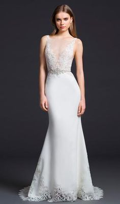 Try this beautiful wedding dress. From Blush. Available at Schaffer's in Des Moines, Iowa. Wedding Dress Info: LAZARO - STYLE 3655