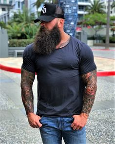 for men who love long bearded men Beard Game, Epic Beard, Man Beard, Sexy Beard, Long Beard Styles, Hair And Beard Styles, Great Beards, Awesome Beards, Bearded Tattooed Men