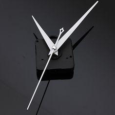 US$1.84 DIY White Triangle Hands Quartz Black Wall Clock Movement Mechanism