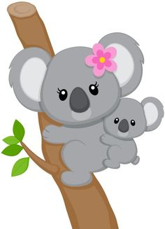 "Photo from album ""koalas"" on – Animal Drawing Jungle Animals, Felt Animals, Baby Animals, Cute Animals, Baby Giraffes, Quilt Baby, Koala Baby, Baby Otters, Cute Clipart"