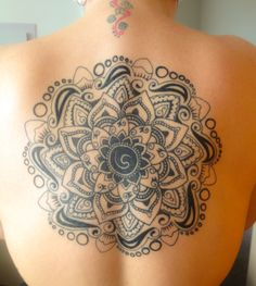 My mandala back tattoo!