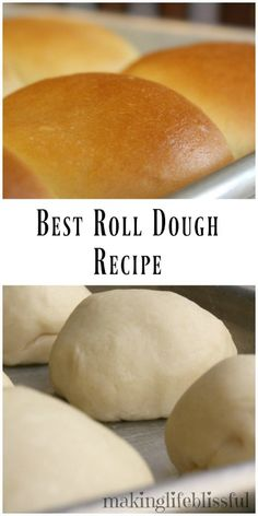 THE Best Roll Dough Recipe Ever!!! Don't miss this homemade roll tutorial!!