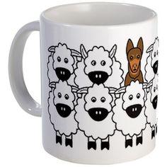 redKelpieSheep_mug 11 oz Ceramic Mug Red Kelpie and Sheep Mug by Karen Hocker Photography & Design Studio - CafePress Dog Lover Gifts, Dog Gifts, Dog Lovers, Australian Sheep Dogs, Sheep Crafts, Inspirational Gifts, Mug Designs, Animals And Pets, Just In Case