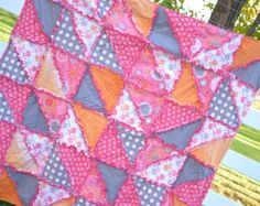 Rag Quilt Pattern-Triangle Dash With Car Seat Tent Instructions