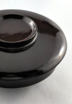Antique Aubergine Lacquerware Lidded Bowl - Zenbu Home Japanese Things, Red Interiors, Dark Red, Minimalist, Antiques, Beautiful, Antiquities, Antique, Minimalism