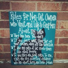 Rules for NonCat Owners 16 by 20 canvas by SweetSerendipityAlly, $48.50