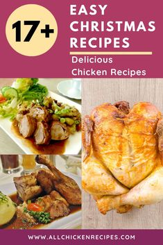 Chicken Recipes for Christmas - Enjoy our best chicken recipes for Christmas dinner eve that you make pretty quickly and serve hot with your family. Chicken Main Course Recipes, Quick Chicken Recipes, Healthy Chicken Dinner, Chicken Breast Recipes Healthy, Appetizer Recipes, Keto Recipes, Dinner Recipes, Yum Yum Chicken, The Best