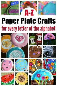 A-Z Paper Plate Crafts for Every Letter of the Alphabet - Happy Hooligans 2.19.17 AM