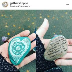 One of our rocks was found in Boston by @gathershoppe Thank you @jennt87. For placing this . . . . #consciousness #nonprofit #compassion #generosity #beliefs #trust #possitiveaffirmations #artstagram #dogood #harmony #follow #motivation #spiritual #gratitud #globalcitizen #gblctzn #bostoncommon #kindnessrock #mandalastones #gooddeed #payitforward #onerockatatime #nature #spreadthelove #travel #motivation #heart #change