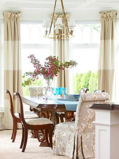 2 Toned Pleated Drapes
