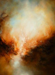 Gran lienzo abstracto paisaje pintura al por SimonkennysPaintings