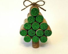Wine Cork Christmas Tree van AllThingsCorkbyAnnie op Etsy