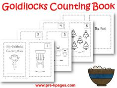 Goldilocks and the Three Bears Preschool Activities | Pre-K Pages