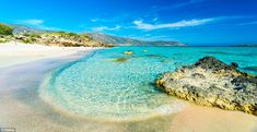 The top 10 most spectacular beaches in the world - (Pictured is Elafonissi Beach, on the islan dof Elafonissi, near Crete)